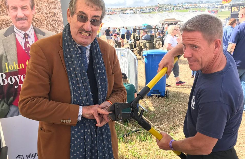 John Challis Boycie at great Dorset Steam Fair