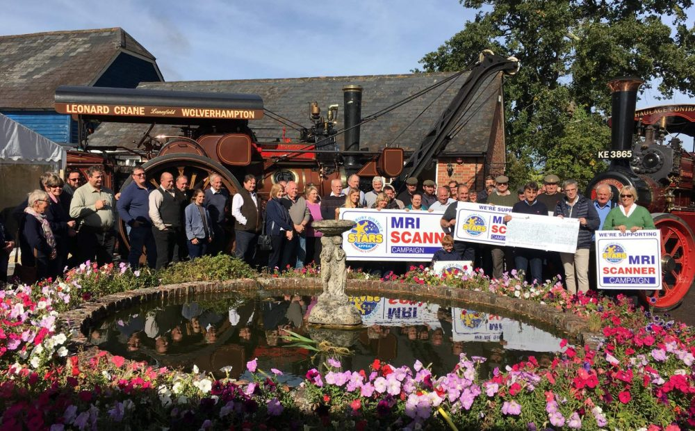 2018 Charity Trailer Rides Donation £18,512.24 MRI Scanner Campaign