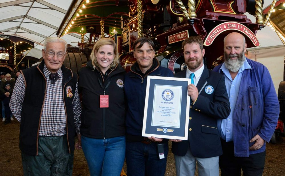 Great Dorset Steam Fair 50th Achieves The GUINNESS WORLD RECORDS™ Title For The Largest Display of Steam Powered Vehicles In The World